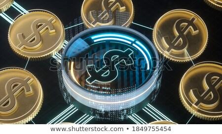 Dolar waluta symbol neon 3D Zdjęcia stock © stevanovicigor