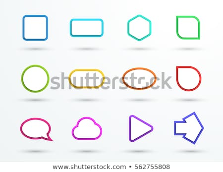overlap shape triangle round circle sign Stock photo © vector1st