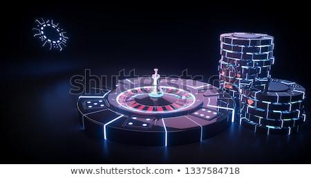 Kaszinó rulett közelkép fogadás játék luxus Stock fotó © pakete