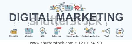Интернет маркетинг баннер изометрический онлайн магазин мобильного телефона Сток-фото © Genestro
