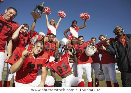 Cheerleader trofee meisje vrouwelijke binnenshuis Stockfoto © IS2