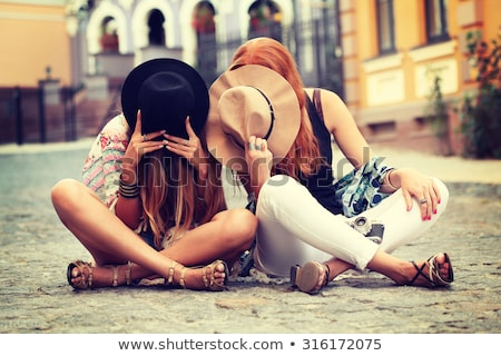 Fashion style photo of boho style girl. Stock photo © NeonShot