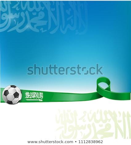 zászló · futballabda · futball · sport · absztrakt · háttér - stock fotó © doomko