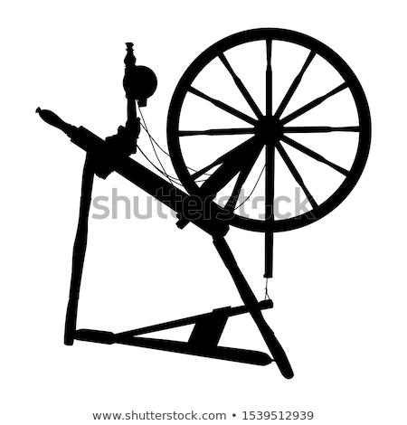 Antique Spinning Wheel Stock photo © 5xinc