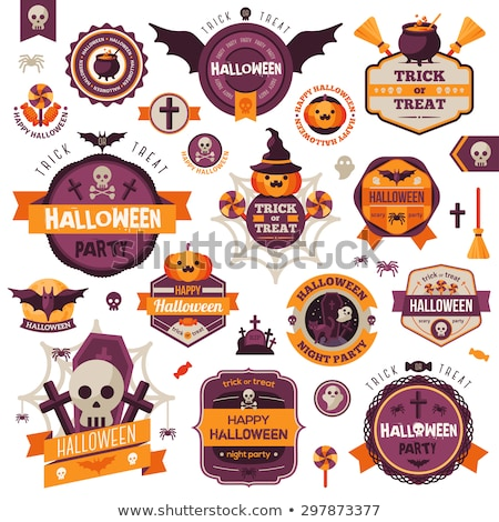 Halloween holiday graphic template. Flat icons stock photo © lemony