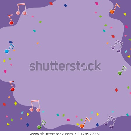 Pourpre notes de musique illustration art amusement wallpaper Photo stock © bluering