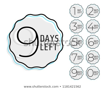 minimal line style number of days left counter Stock photo © SArts