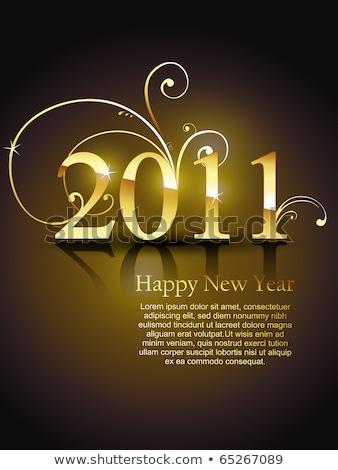 Kwiatowy 2011 nowy rok karty ilustracja streszczenie Zdjęcia stock © get4net