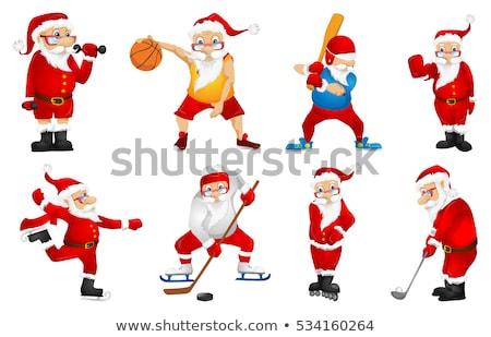 набор · Дед · Мороз · играет · спортивных · играх · вектора - Сток-фото © heliburcka