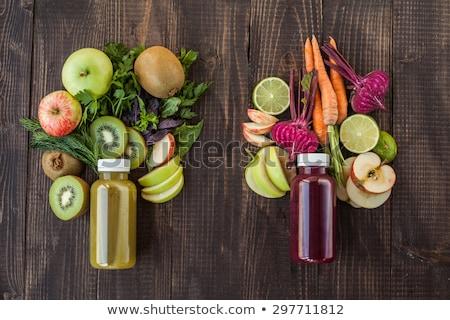 Vegetáriánus étel frissítő nyár detoxikáló diéta szett Stock fotó © robuart