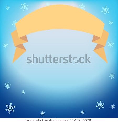 zimą · wektora · niebieski · świetle · efekt · projektor - zdjęcia stock © heliburcka