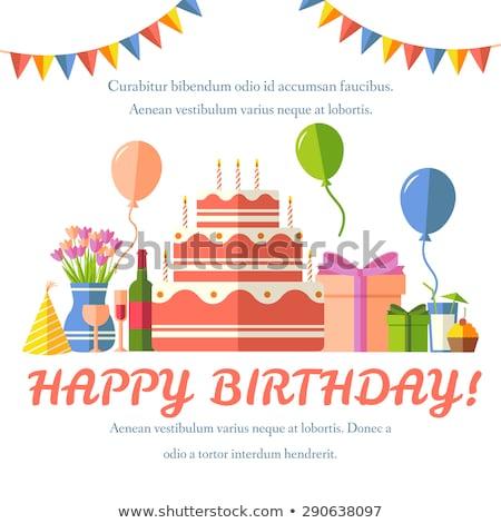 Gelukkige verjaardag feestelijk confetti partij viering Stockfoto © Linetale