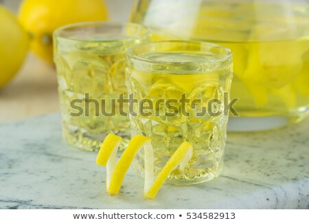 Glasses of limoncello Stock photo © Alex9500