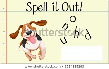 Spell english word  hound Stock photo © bluering