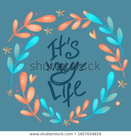 Валентин текста счастливым типографики Сток-фото © kollibri