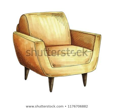 искусства · кресло · подушка · сиденье · Председатель · мебель - Сток-фото © arkadivna