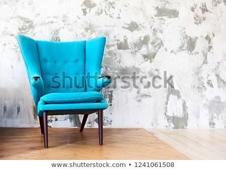interieur · klassiek · Blauw · kamer · witte · stoelen - stockfoto © dashapetrenko