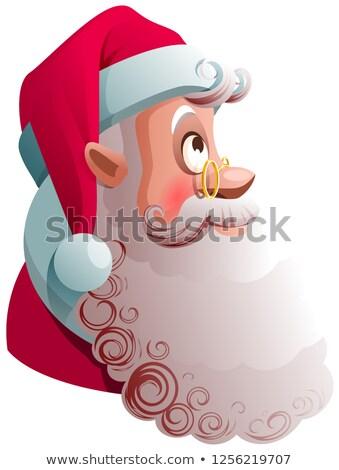 Noel baba kafa profil görmek aramak Noel Stok fotoğraf © orensila