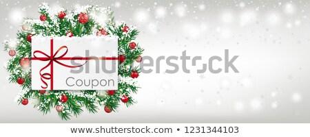 снега · баннер · красный · Рождества · охватывать - Сток-фото © limbi007