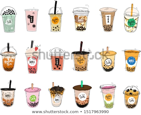 Soft Drink in Cup Poster, Vector Illustration Stock photo © robuart