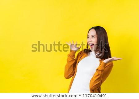 Portré megrémült fiatal ázsiai nő portré nő Stock fotó © deandrobot