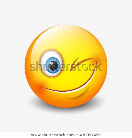 Emoji Winking Blinking Sign Isolated Icon Vector Stock photo © robuart
