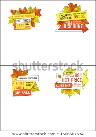 special exclusive offer posters set oak leaves stock photo © robuart