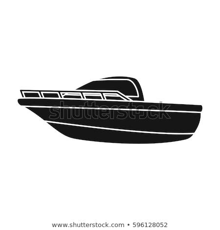 Placer barco icono vector aislado blanco Foto stock © smoki