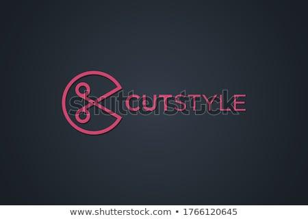 letter k red black circle icon logo vector stock photo © blaskorizov
