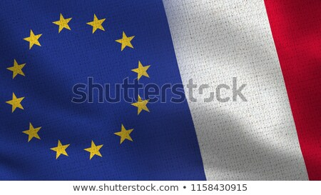 Two waving flags of France and EU Stock photo © MikhailMishchenko
