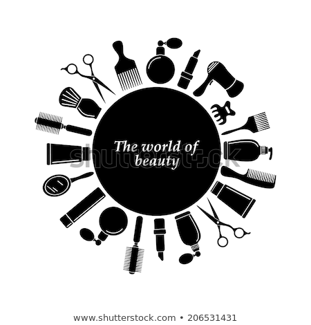 Spa Salon Hair Styling Stylists Icons Set Vector Stock photo © robuart