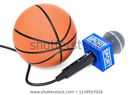 マイク バスケットボール ボール 白 孤立した 3D ストックフォト © ISerg