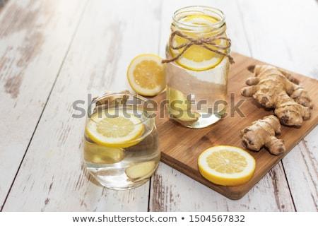 Víz gyömbér detoxikáló egészséges ital trendi Stock fotó © furmanphoto