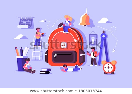 Child bag with essential stuff for study Stock photo © jossdiim