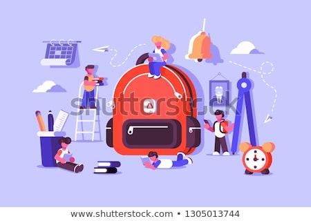 Criança saco essencial estudar crianças escolas Foto stock © jossdiim