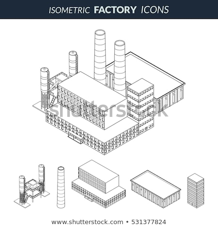 gas outline isometric icons stock photo © netkov1