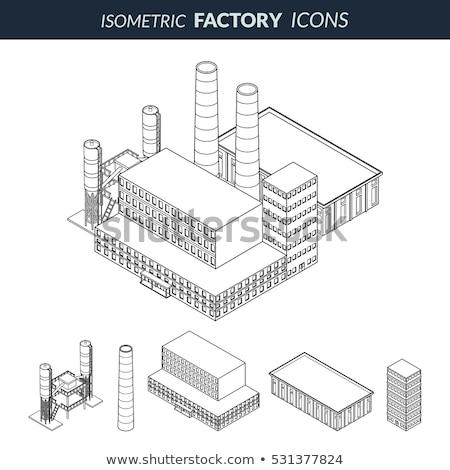 Gas outline isometric icons Stock photo © netkov1