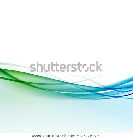 Blue and green Abstract fume waves  Stock photo © Arsgera