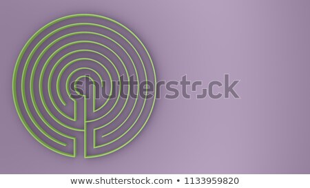 3d solved key shape labyrinth maze puzzle Stock photo © ribah