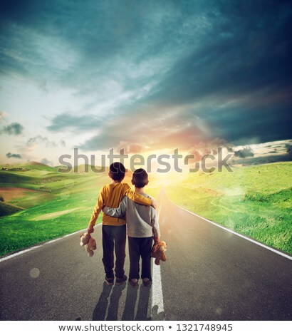 two kinds observe the long way of the life stock photo © alphaspirit