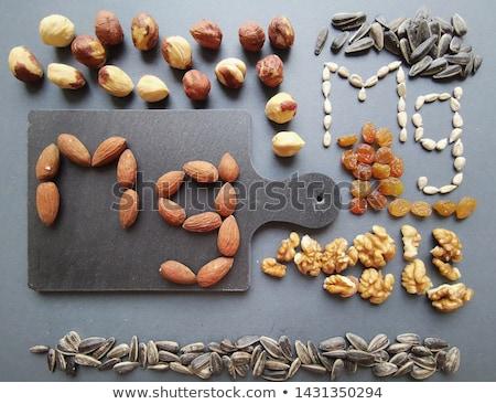 Válogatás étel magnézium termék egészséges étrend csokoládé Stock fotó © furmanphoto