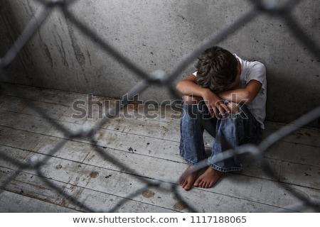 Young boy in depression Stock photo © jossdiim