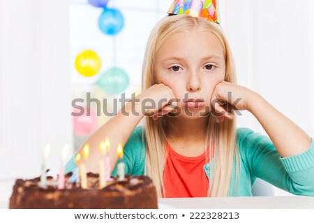 Kind Gefühl einsamen Party Mädchen Hand Stock foto © Lopolo