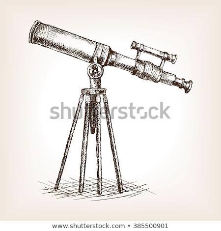 цвета эскиз телескопом рисованной икона прибыль на акцию Сток-фото © netkov1