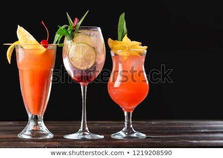 verão · bebida · fria · limão · de · gelo · preto - foto stock © grafvision