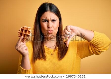 édes waffle kreatív fotó fagylalt kúp Stock fotó © Fisher