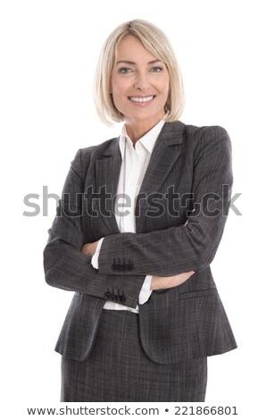 Pretty blonde in business outfit Stock photo © filipw