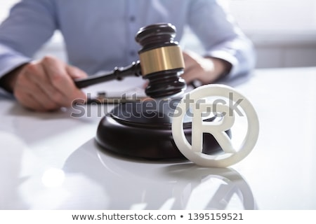 Bíró védjegy szimbólum közelkép szerzői jog asztal Stock fotó © AndreyPopov