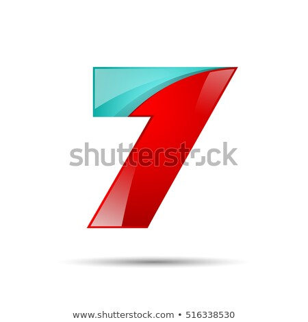 Blue gradient number 7 SEVEN 3D Stock photo © djmilic