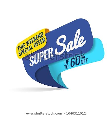 ストックフォト: 販売 · 60 · パーセント · バナー · 割引 · デザイン